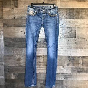 Miss Me Embellished Jeans Sequin Bootcut Jeans
